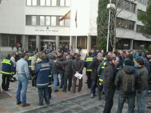 Concentración de los bomberos en Madrid 16.01.2014